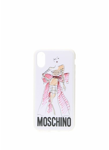 Moschino Cep Telefonu Kılıfı Beyaz